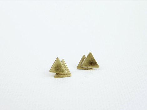 triangle ear rings
